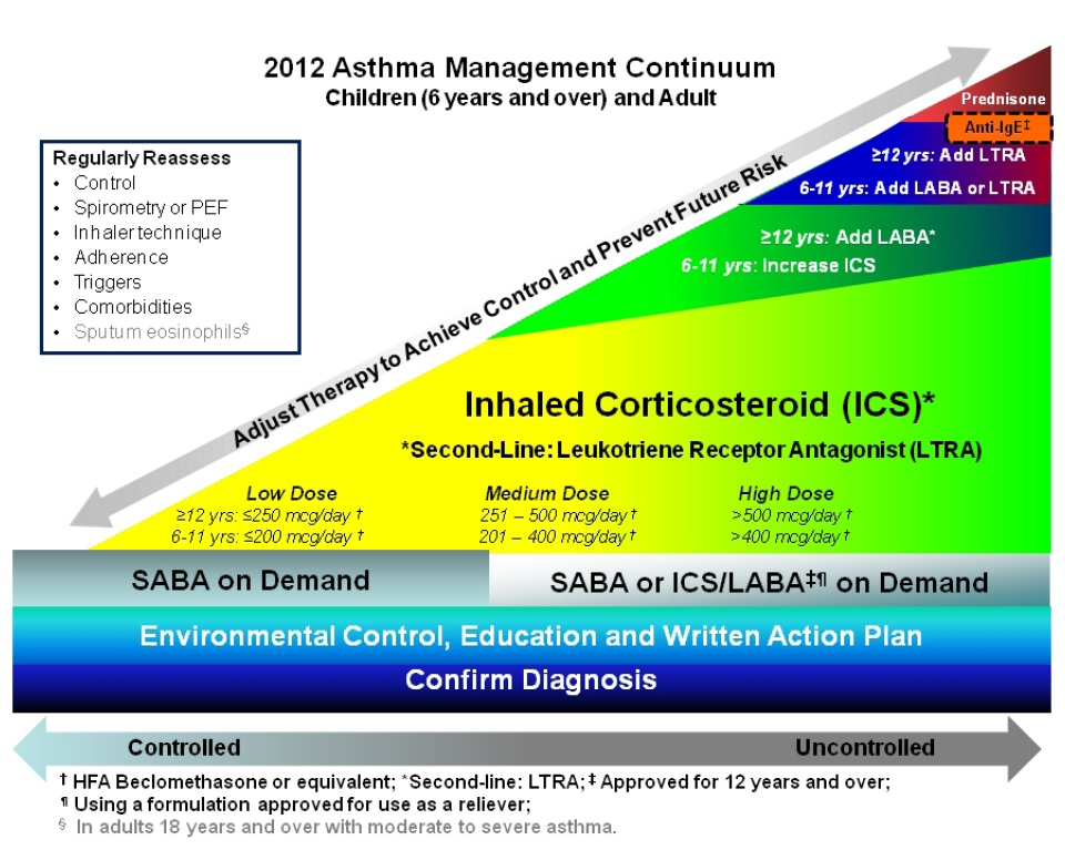 inhaled corticosteroid conversion table